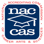 Accredited Beauty School by the National Accrediting Commission of Career Arts and Sciences (NACCAS).