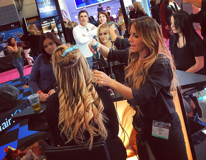 Hair Extensions Demo Long Island Beauty School